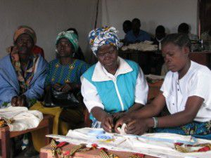 The Ladies of Chibanzi Making Bags