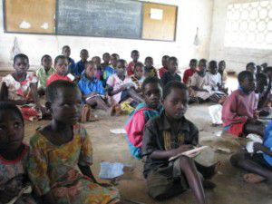 Students in a Malawi classroom.