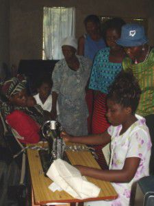Patience, of Nkhata Bay, helped trained all 3 Africa Bags Villages how to use the treadle