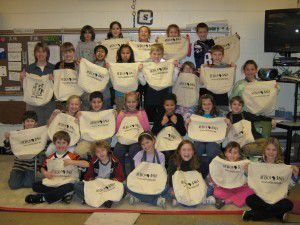 Jenny Hamerstadt's class all got Africa Bags for Christmas!