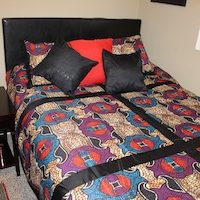 Queen Duvet Red Purple Royal Blue