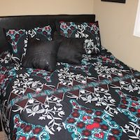 Queen Duvet Turquoise Red