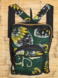Youth Green Yellow Pine Cone Back Pack