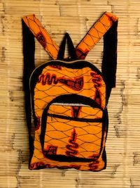Youth Orange Back Pack 2