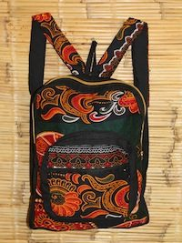 Youth Red Paisley Back Pack